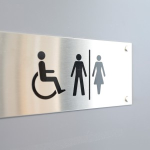 Stainless Steel Door Sign