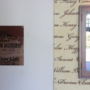 Internal Wall Mounted Copper Plaque with Etched Detail and Engraved Text