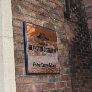 External Wall Mounted Copper Plaque with Etched Detail and Engraved Text