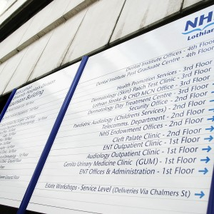 NHS External Post Mounted Directory