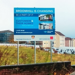 Housing Development Post Mounted Site Board Sign