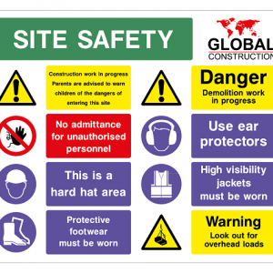 Site Sign Safety Signs