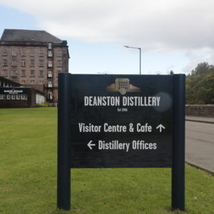 Post Signs - Deanston Distillery Rebrand Signage