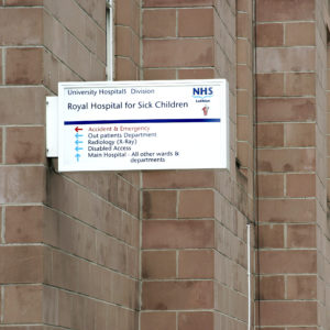 Royal Hospital for Sick Children - Projecting Signs