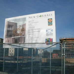 Construction Site Board Sign